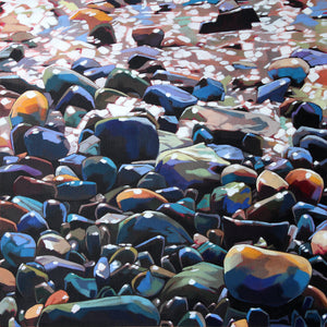 Pebble Series - Contemporary art from Ireland. Paintings & prints by Irish seascape & landscape artist Kevin Lowery.