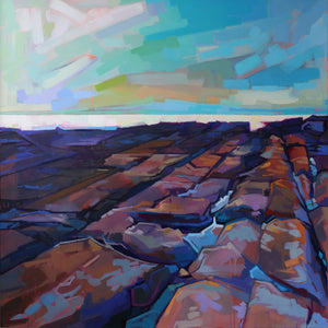 Coastal Rocks - Contemporary art from Ireland. Paintings & prints by Irish seascape & landscape artist Kevin Lowery.