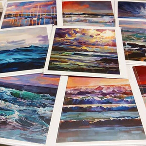 Greeting Cards - Contemporary art from Ireland. Paintings & prints by Irish seascape & landscape artist Kevin Lowery.