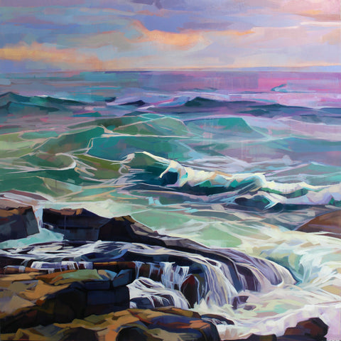Creevy, Storm Eleanor - Contemporary art from Ireland. Paintings & prints by Irish seascape & landscape artist Kevin Lowery.