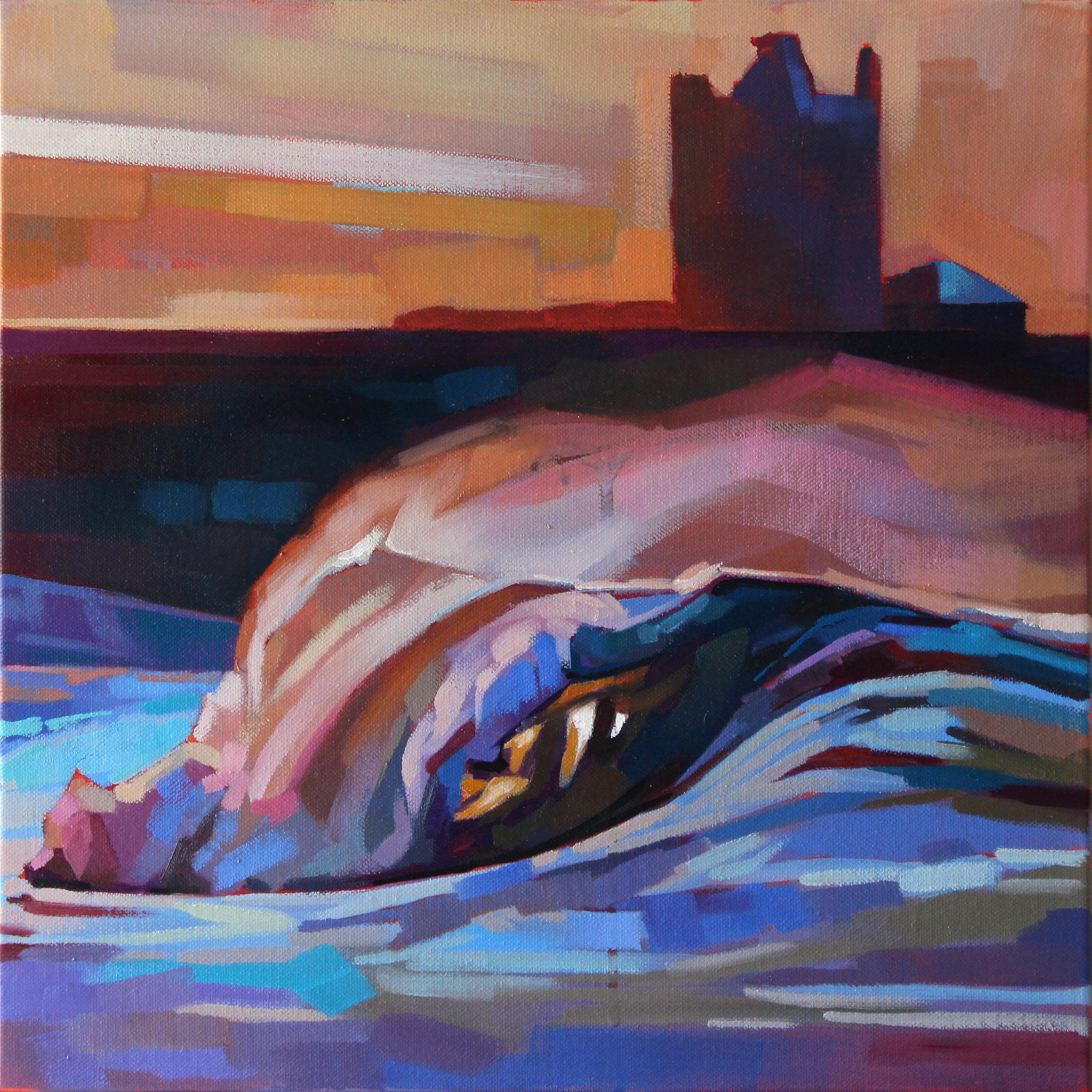 Easkey Left - Contemporary art from Ireland. Paintings & prints by Irish seascape & landscape artist Kevin Lowery.