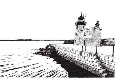 Lighthouse At Howth - Limited Edition Print - Contemporary art from Ireland. Paintings & prints by Irish seascape & landscape artist Kevin Lowery.