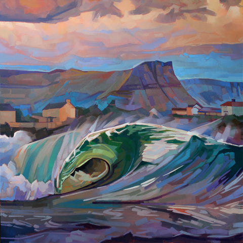 Main Beach, Bundoran II - Contemporary art from Ireland. Paintings & prints by Irish seascape & landscape artist Kevin Lowery.