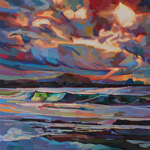 Main Beach, Bundoran, Storm Brendan - Contemporary art from Ireland. Paintings & prints by Irish seascape & landscape artist Kevin Lowery.