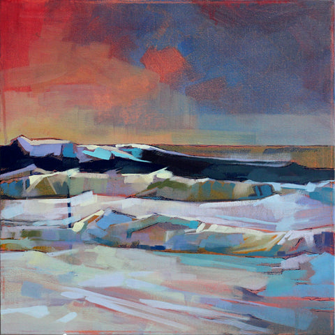 Near Mullaghmore, Storm Eleanor - Pack Of 10 Greeting Cards - Contemporary art from Ireland. Paintings & prints by Irish seascape & landscape artist Kevin Lowery.