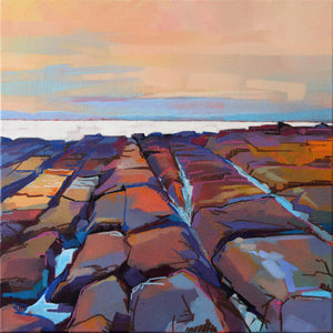 Rocks At Pampa III - Contemporary art from Ireland. Paintings & prints by Irish seascape & landscape artist Kevin Lowery.