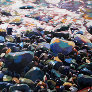 Pebbles II - Contemporary art from Ireland. Paintings & prints by Irish seascape & landscape artist Kevin Lowery.
