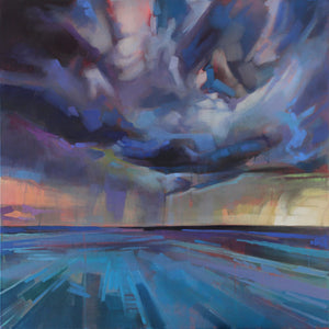 Storm Dennis Over The Atlantic - Contemporary art from Ireland. Paintings & prints by Irish seascape & landscape artist Kevin Lowery.
