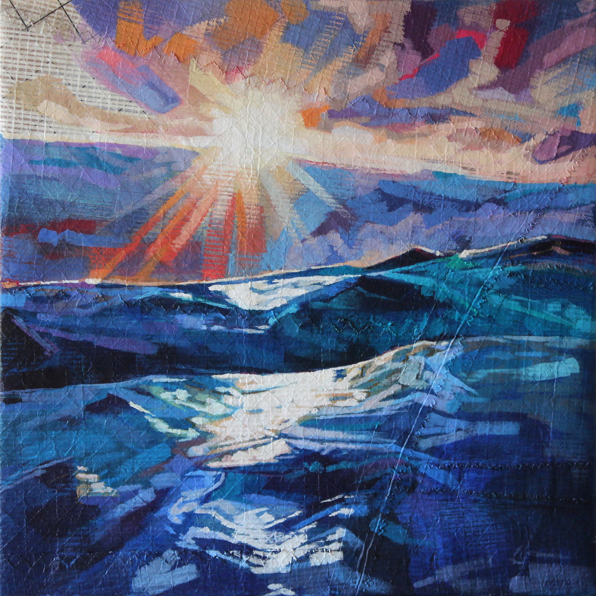 Stormy Seas At Tullan - Contemporary art from Ireland. Paintings & prints by Irish seascape & landscape artist Kevin Lowery.