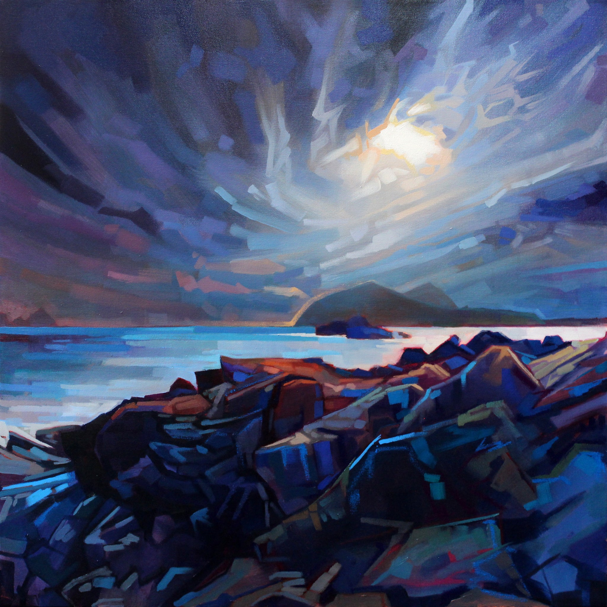Towards The Blaskets - Contemporary art from Ireland. Paintings & prints by Irish seascape & landscape artist Kevin Lowery.