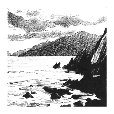 Slea Head - Pack Of 10 Greeting Cards - Contemporary art from Ireland. Paintings & prints by Irish seascape & landscape artist Kevin Lowery.
