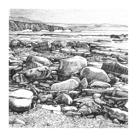 Doonbeg, Lahinch - Pack Of 10 Greeting Cards - Contemporary art from Ireland. Paintings & prints by Irish seascape & landscape artist Kevin Lowery.