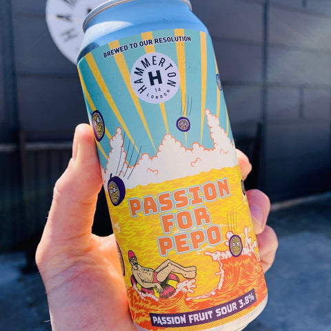 PASSION FOR PEPO (PASSION FRUIT SOUR) 3.8% ABV- 4 x 440ml