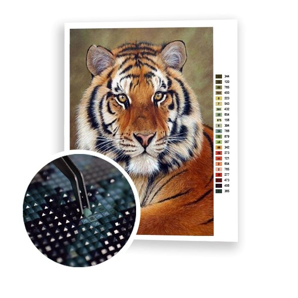 Beautiful Tiger - Art of Diamond Painting