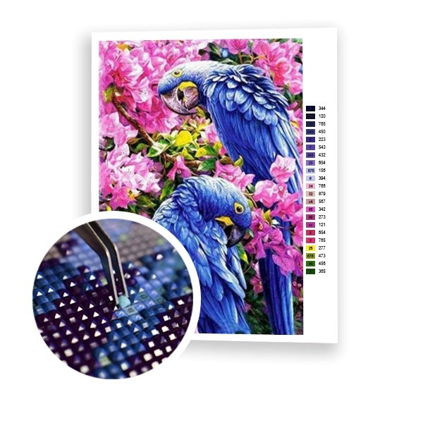 Blue Parrots - Art of Diamond Painting