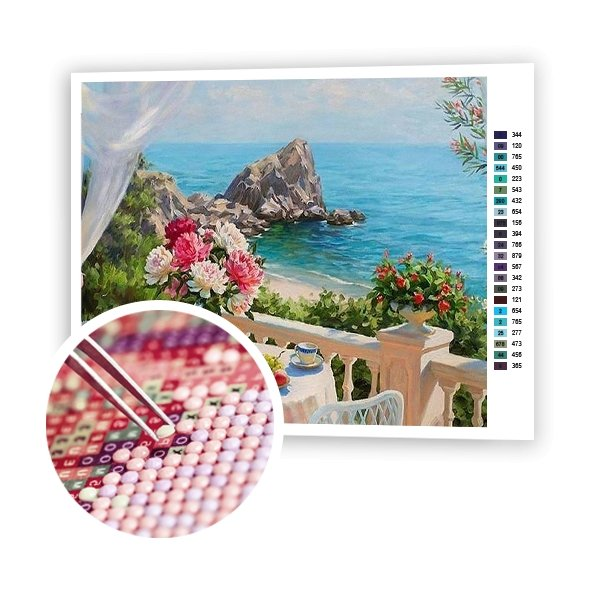 Breakfast By The Sea - Art of Diamond Painting