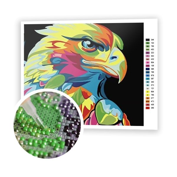 Colorful Eagle - Art of Diamond Painting
