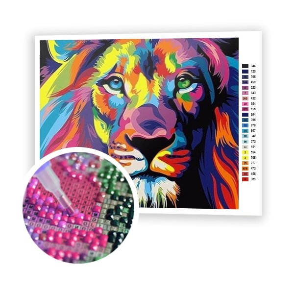Colorful Lion - Art of Diamond Painting