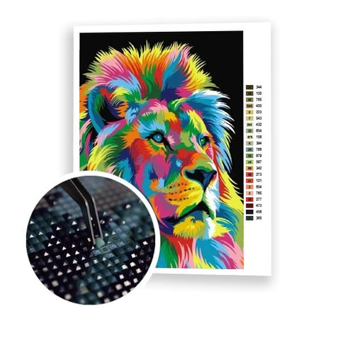 Colorful Lion King - Art of Diamond Painting