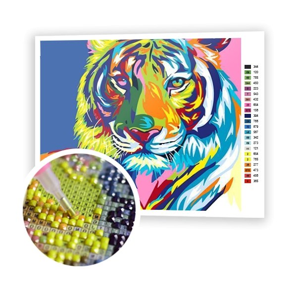 Colorful Tiger - Art of Diamond Painting