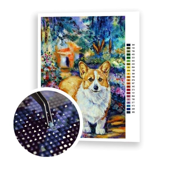 Corgi Dog - Art of Diamond Painting