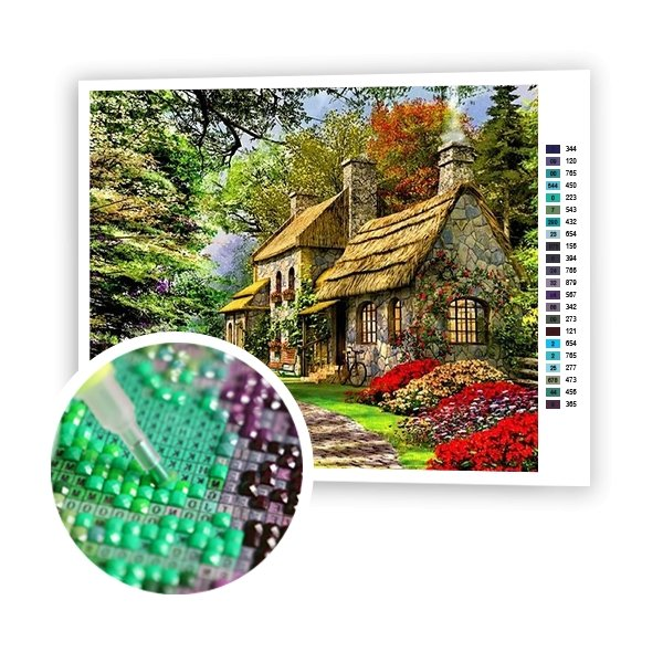 House In The Woods - Art of Diamond Painting