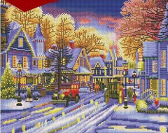 LED Christmas Neighbourhood Diamond Painting