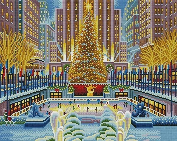 LED Christmas Tree Diamond Painting - Art of Diamond Painting