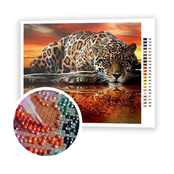 Leopard At Sunset - Art of Diamond Painting