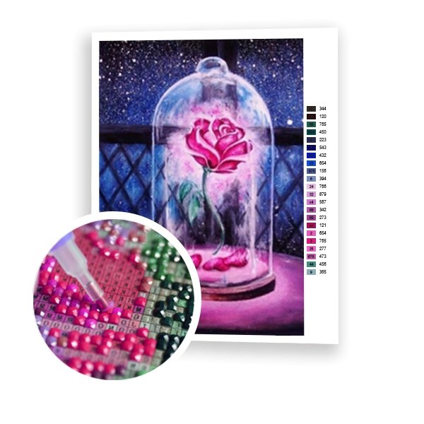 Magic Rose Flower - Art of Diamond Painting