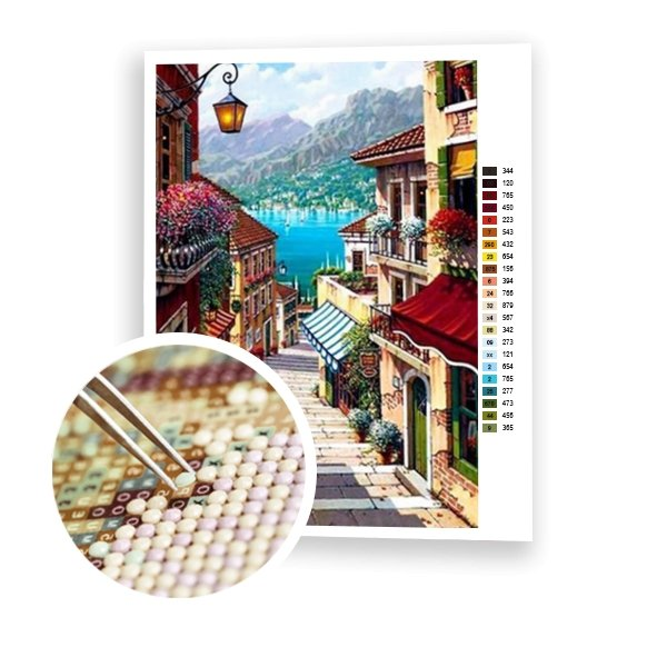 Mediterranean Town - Art of Diamond Painting