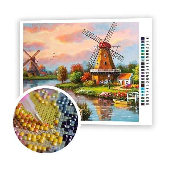 Mill By The River - Art of Diamond Painting