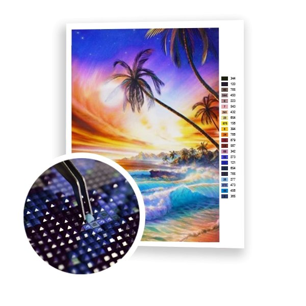 On the Beach - Art of Diamond Painting