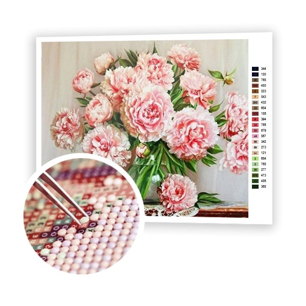 Peonies - Art of Diamond Painting