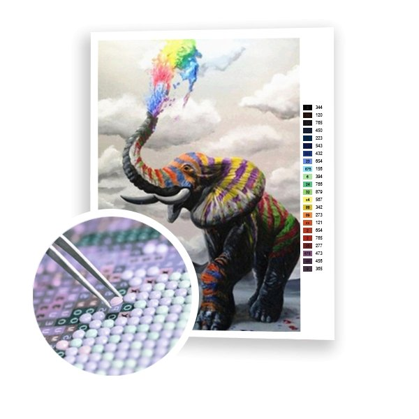 Rainbow Elephant - Art of Diamond Painting