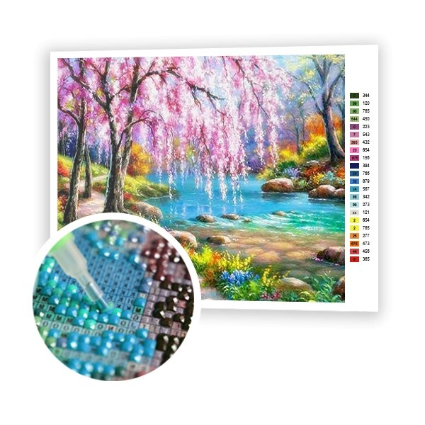 River in the Forest - Art of Diamond Painting