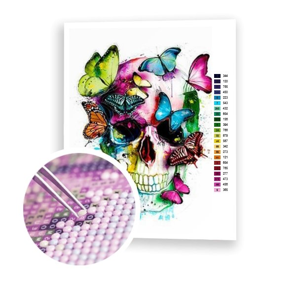 Skull Butterfly - Art of Diamond Painting