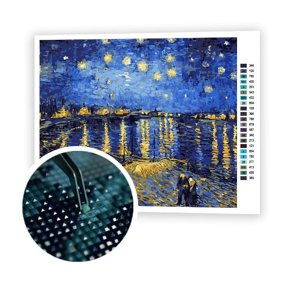 Starry Night Over the Rhone Van Gogh - Art of Diamond Painting