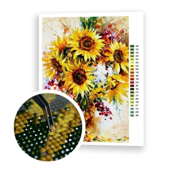 Sunflowers in a Vase - Art of Diamond Painting