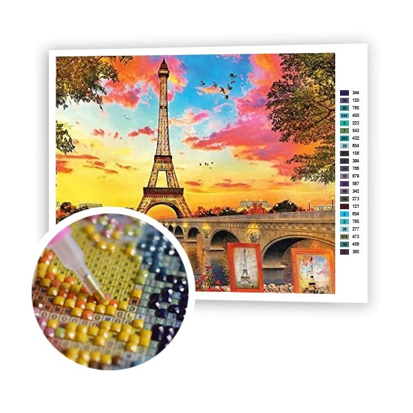 Sunset In Paris - Art of Diamond Painting