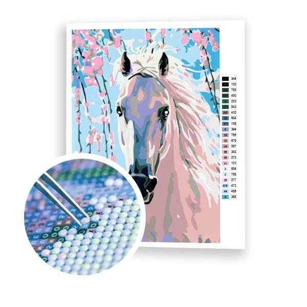 White Horse - Art of Diamond Painting