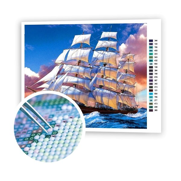 White Sails - Art of Diamond Painting