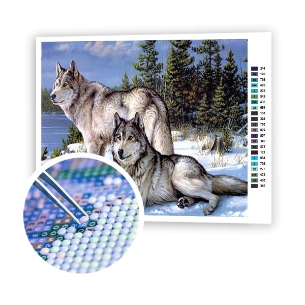 Wolves In The Forest - Art of Diamond Painting