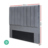 Bed Head Board - Velvet Grey- Double