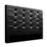 Leather Bed Head Board - Black - Queen