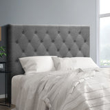 Bed Head Board - Grey- King Single