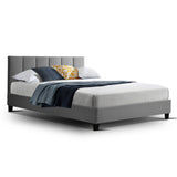 Fabric Bed Frame - Grey - Double