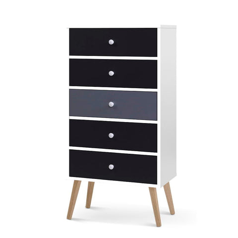 Tallboy Chest of Drawers - Grey and white