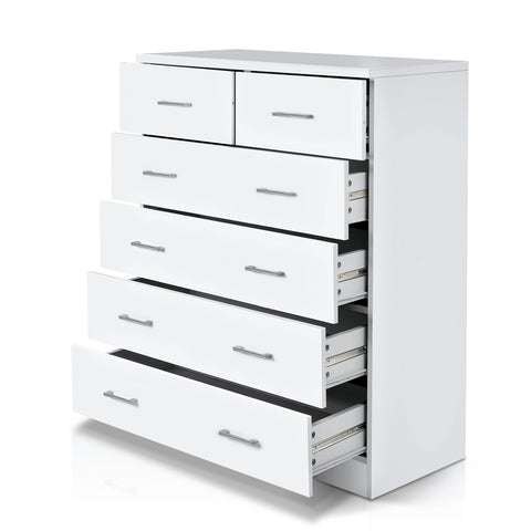 Tallboy Chest of Drawers - White