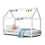 Kids Wooden 4 Poster Bed Frame - White - Single
